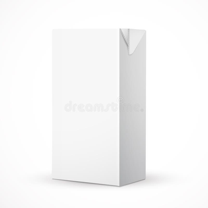 Pacote vazio da caixa da bebida ilustração royalty free