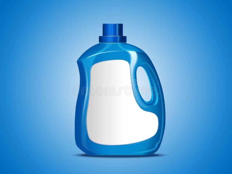 Pacote vazio do detergente para a roupa ilustração royalty free