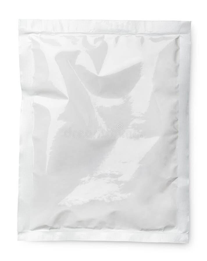 Pacote vazio do produto no branco imagem de stock royalty free