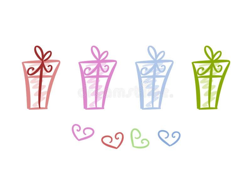 Pacotes Coloridos Do Presente Imagens de Stock Royalty Free