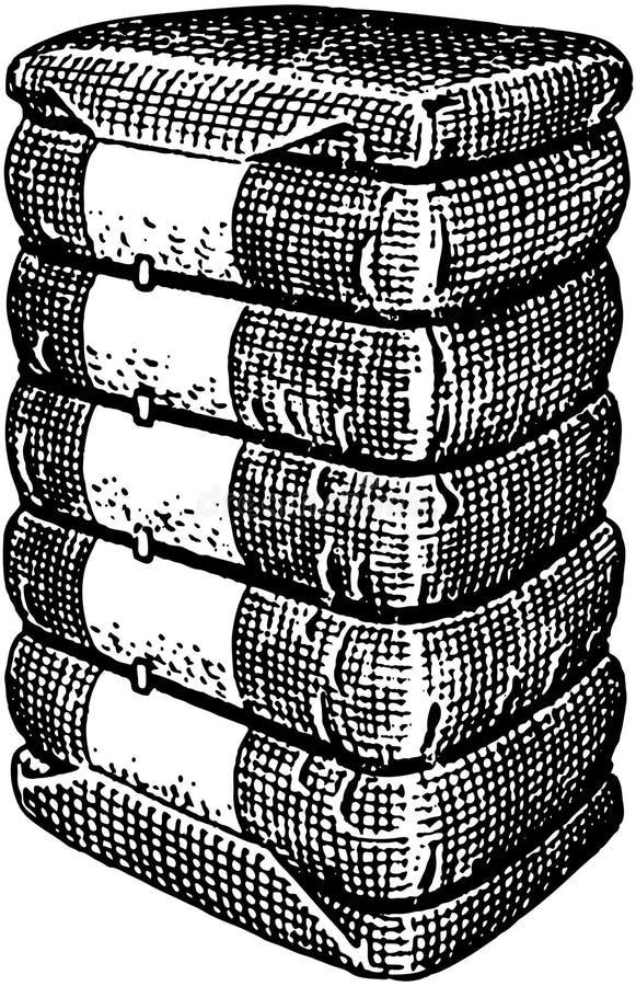 Pacotes do algodão ilustração stock