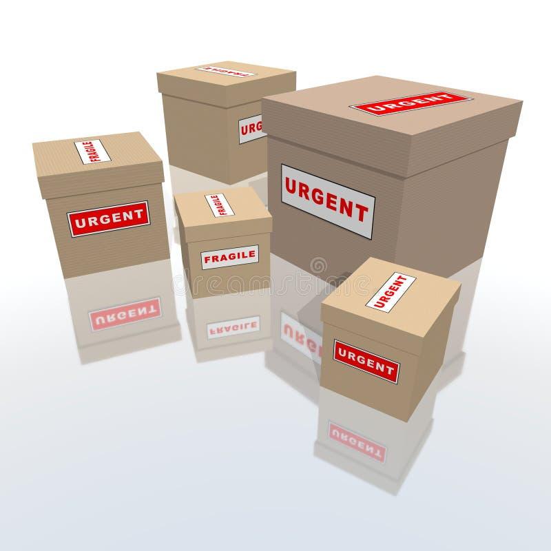 Pacotes Urgentes Imagem de Stock