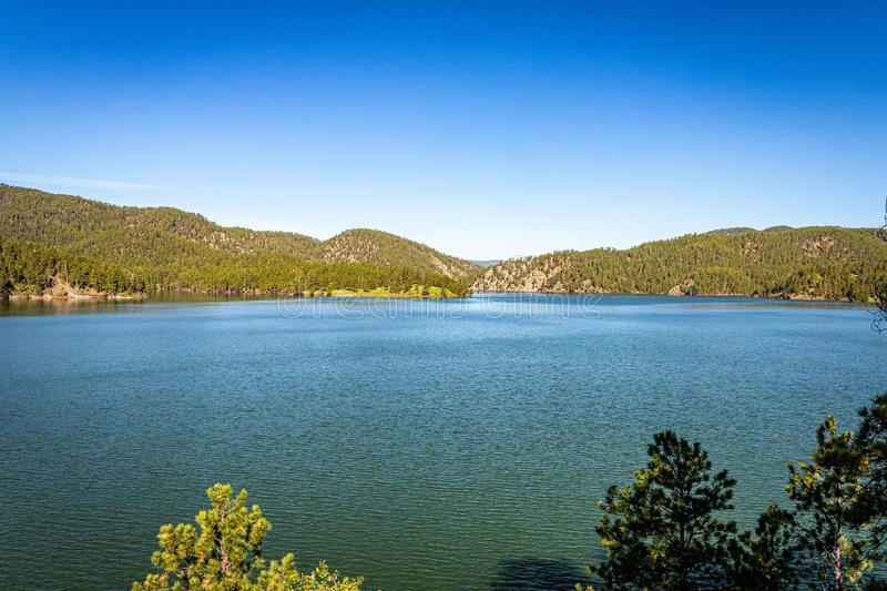 Pactola Lake South Dakota. Pactola Lake is the largest reservoir in the Black Hills of South Dakota, created by the construction of the Pactola Dam in 1952 stock photography