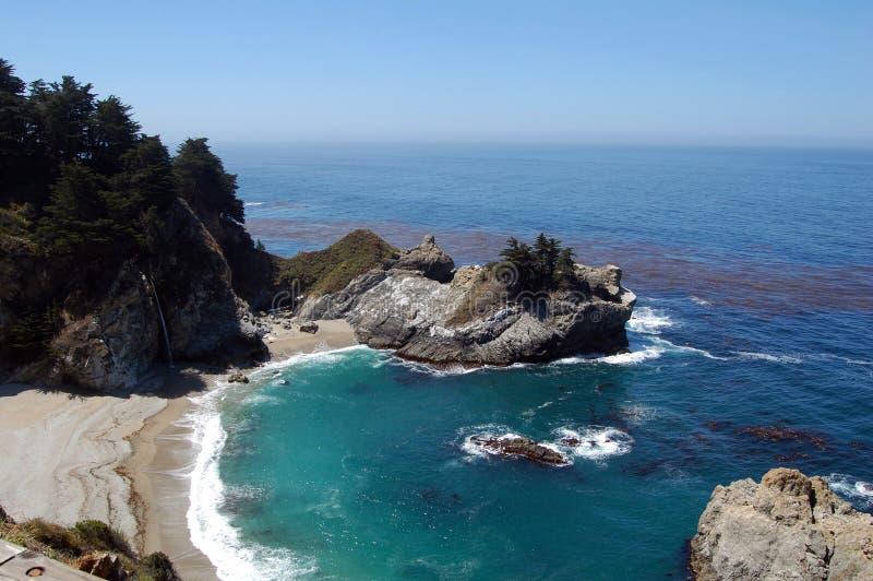 Pacyficzna linia brzegowa w Kalifornia, autostrada jeden, usa obrazy royalty free