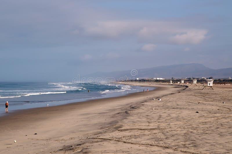 Pacyficznego oceanu plaża przy Obozowymi Pendelton południe obraz royalty free