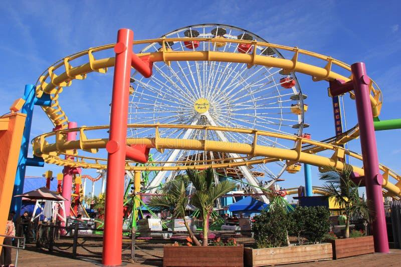 Pacyfik park przy Snata Monica zdjęcie stock