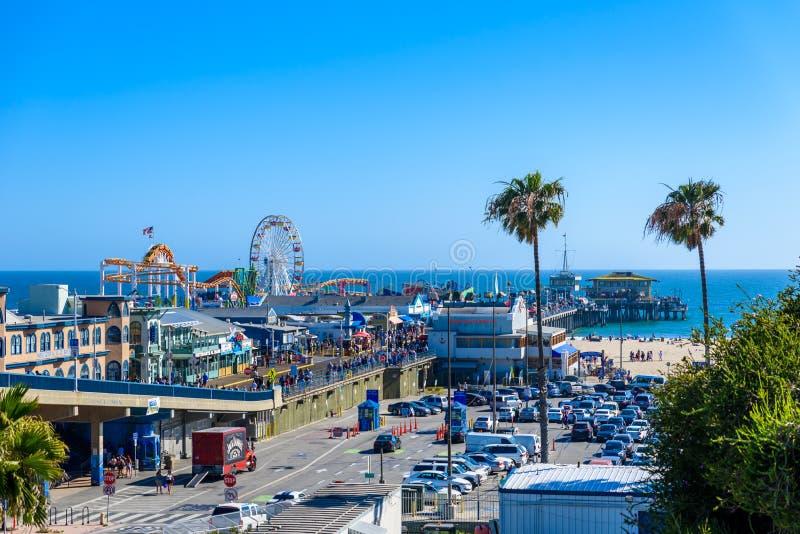 Pacyfik park przy Snata Monica plażą, Los Angeles, Kalifornia, usa fotografia royalty free