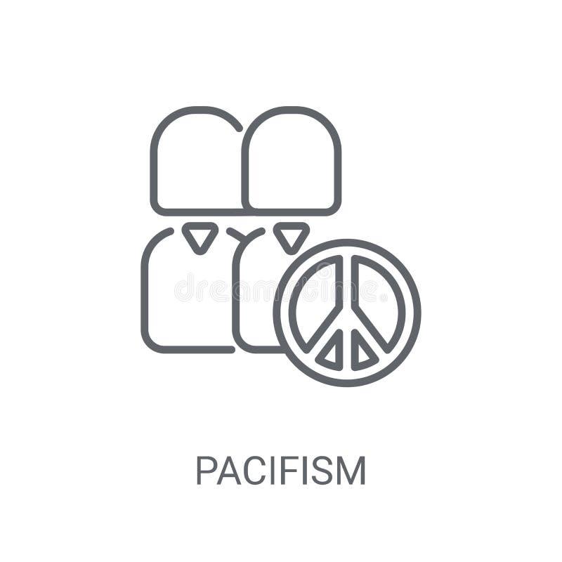Pacyfizm ikona Modny pacyfizmu logo pojęcie na białym tle ilustracja wektor
