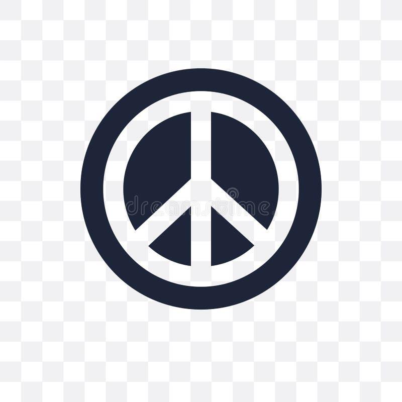 Pacyfizm przejrzysta ikona Pacyfizmu symbolu projekt od Politycznego royalty ilustracja