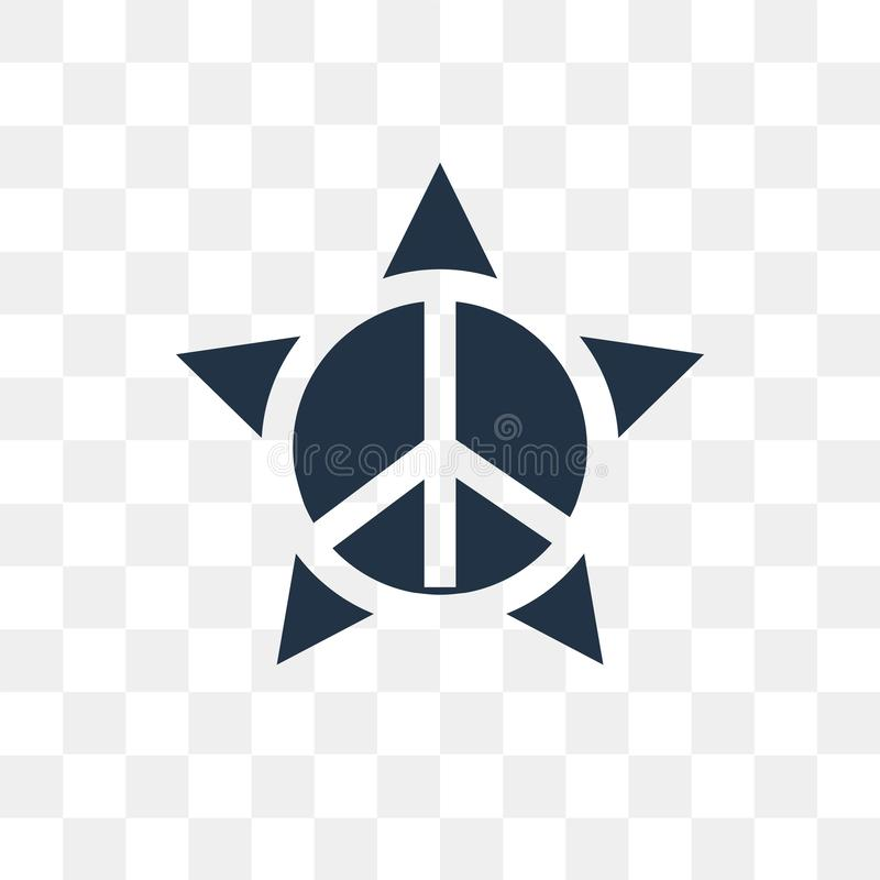 Pacyfizm wektorowa ikona odizolowywająca na przejrzystym tle, Pacifis royalty ilustracja