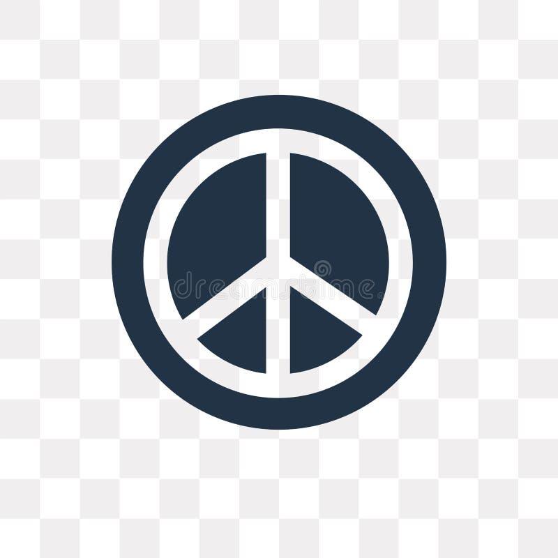 Pacyfizm wektorowa ikona odizolowywająca na przejrzystym tle, Pacifis ilustracji