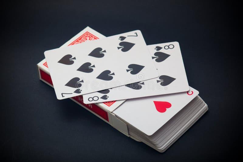 Paczka karty zdjęcie royalty free