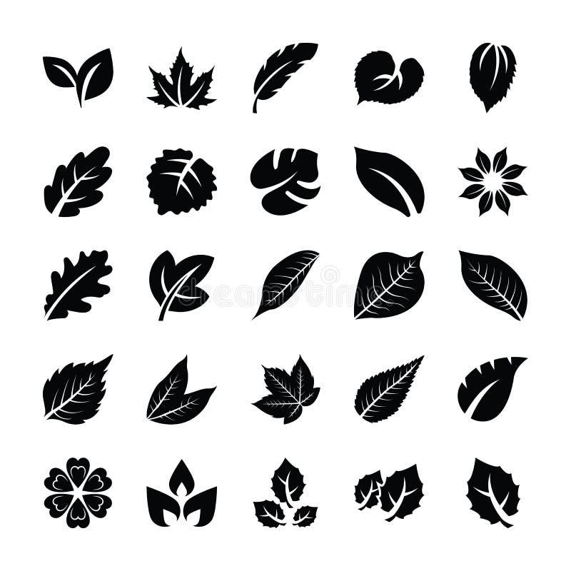 Paczka liścia glifu ikony ilustracja wektor
