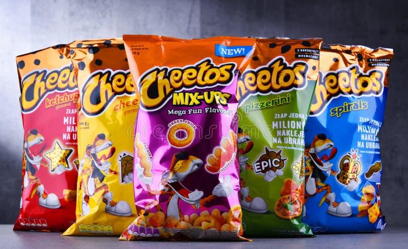 Paczki Cheetos cornmeal przekąski obrazy stock