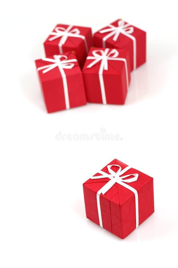 paczki prezentów świąteczne obrazy stock