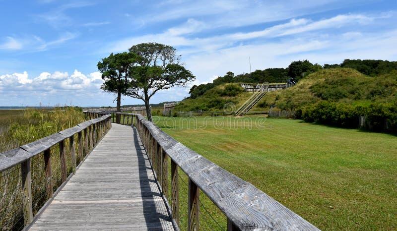 Pad bij Fort Fisher, North Carolina, Verenigde Staten van Amerika royalty-vrije stock fotografie