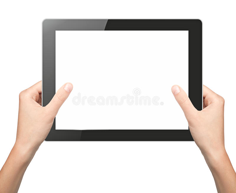 Download Pad in hands stock photo. Image of monitor, phone, finger - 25127290