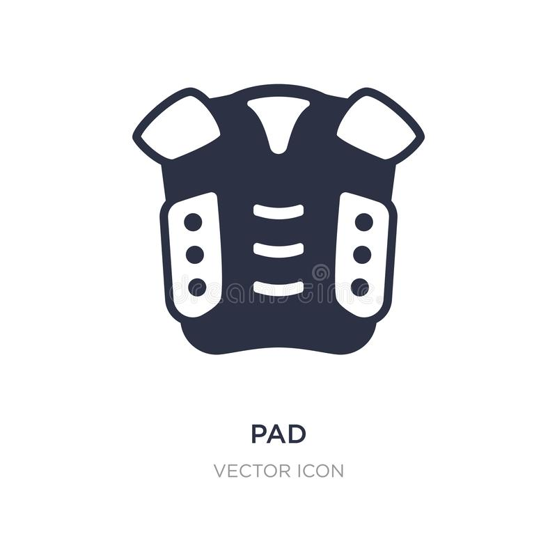 Pad icon on white background. Simple element illustration from American football concept. Pad sign icon symbol design royalty free illustration