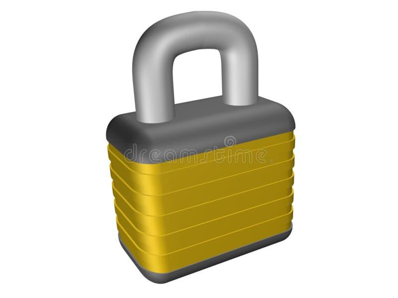 Pad Lock stock illustration