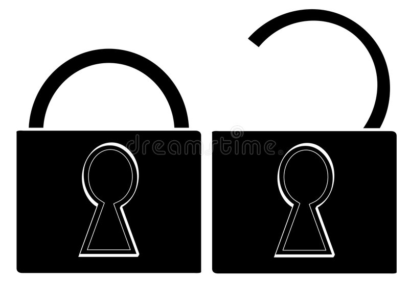 Download Pad Locks Opened And Closed Stock Vector - Image: 4916040