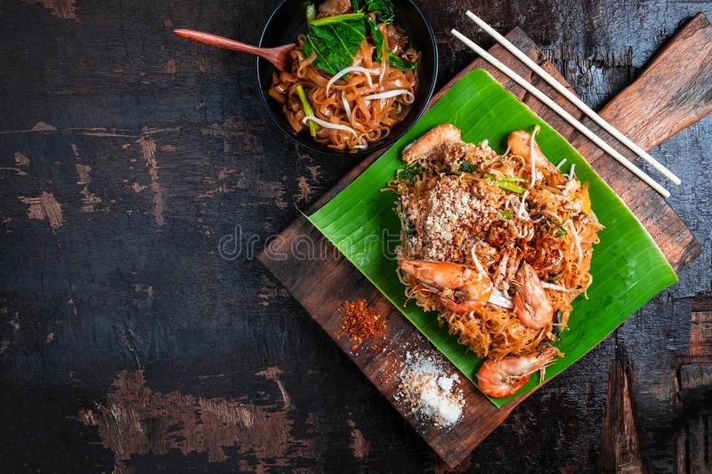 Pad Thai, delicious Thai food on the table. stock image