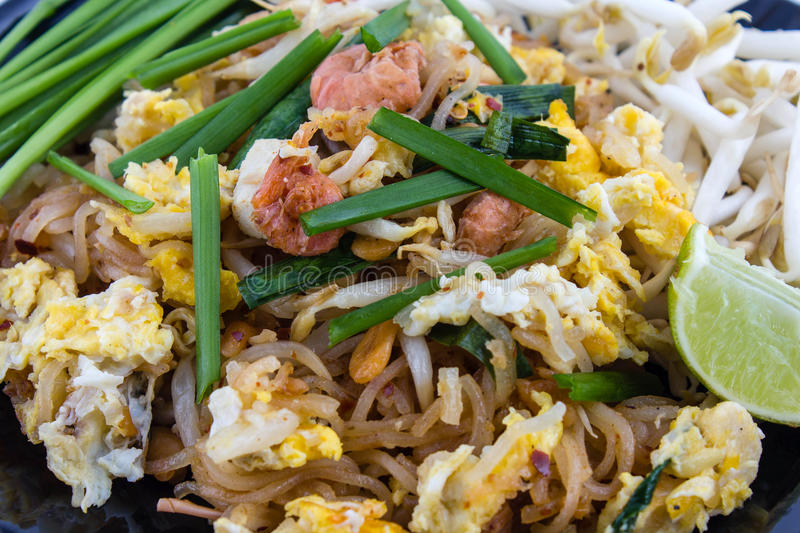 Pad Thai. Food fried in Thailand called Pad Thai royalty free stock images
