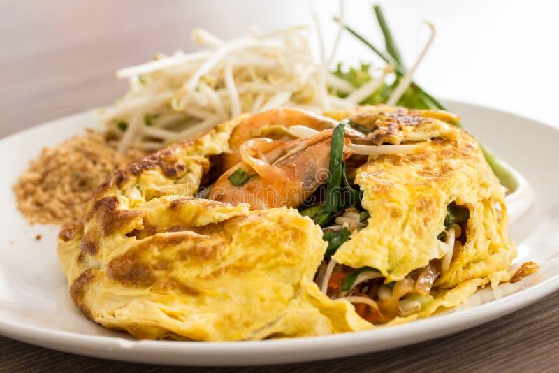 Pad Thai Food. Stir fry noodles with shrimp stock photo