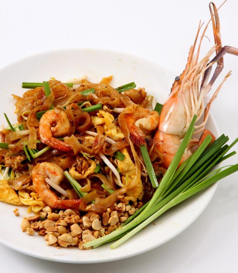 Pad Thai & Fresh Shrimp stock photography