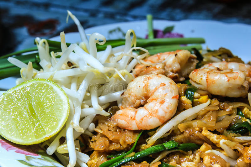 Pad Thai. With fresh vegetable stock photography