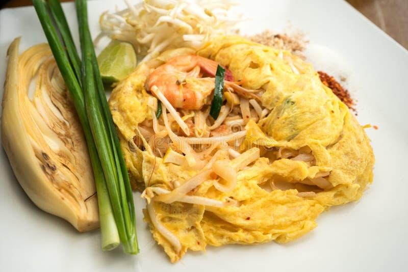 Pad Thai Homemade. On Dish stock photos