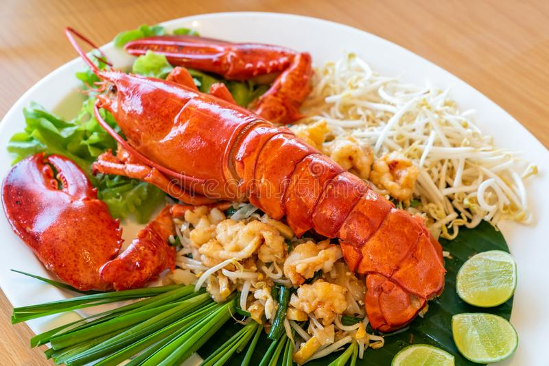 Pad thai lobster stock photo