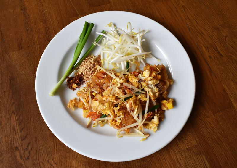 Pad Thai Noodle is Thai Food Style. The one of Thailand`s nation. Al main dish, the popular food in Thailand stock photos