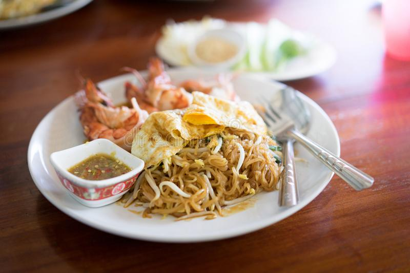 Pad Thai, Noodle Thai style. Pad Thai , A Famous Noodle in Thailand royalty free stock image