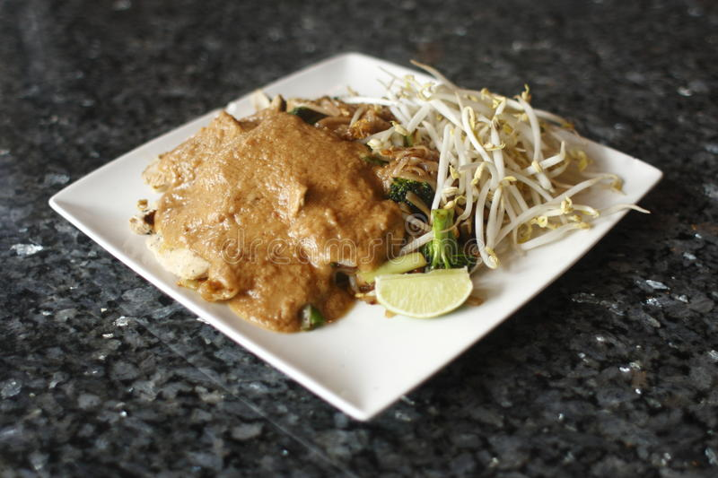 Download Pad thai noodles stock image. Image of chicken, thai - 14414191
