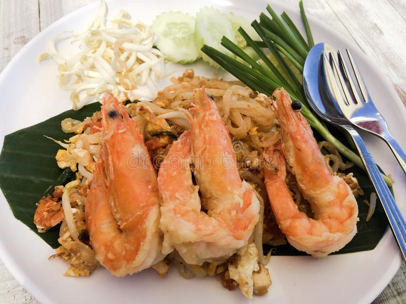 Pad thai noodles stock image