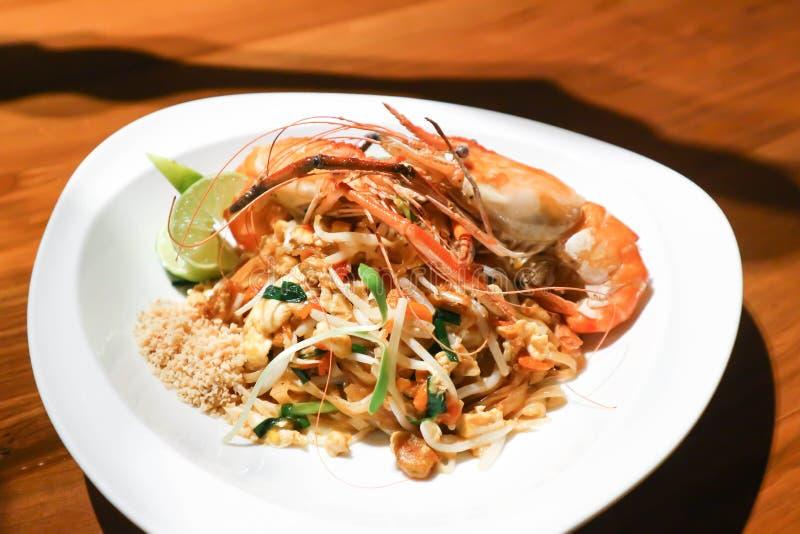 Pad Thai or shrimp noodle. Stir fried noodle royalty free stock images