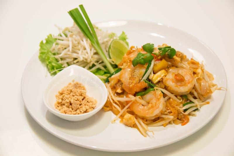 Pad Thai Stir-Fried Rice Noodle with Shrimp. Thai style fried noodle stock photo