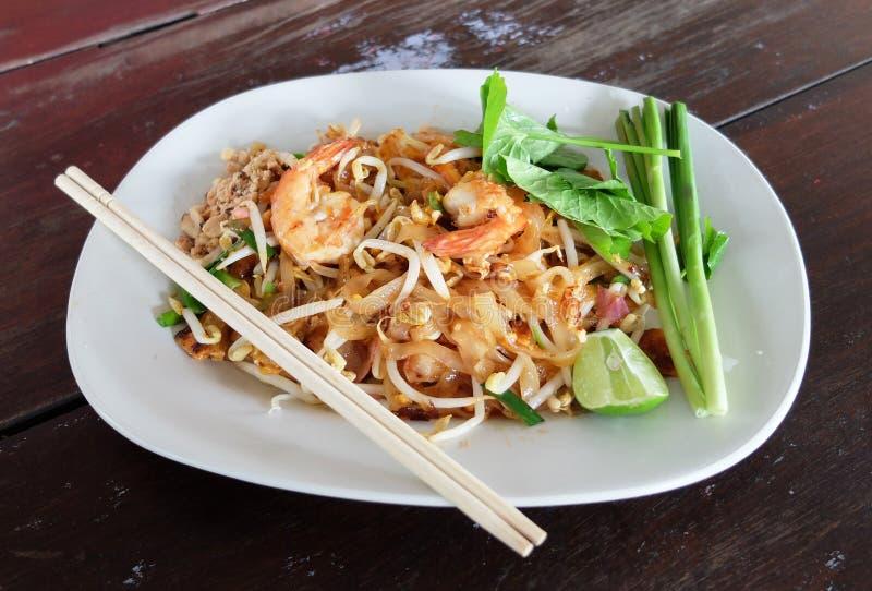 Pad Thai. Thailand's national dishes, stir-fried rice noodles (Pad Thai stock photos