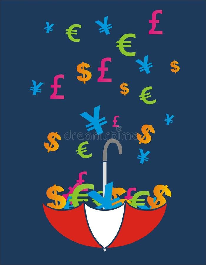 Padać pieniądze royalty ilustracja
