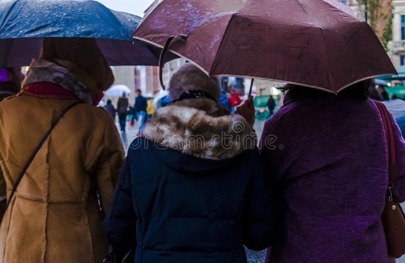 Padać w Madryt na Niedzieli zimy dniu zdjęcia royalty free