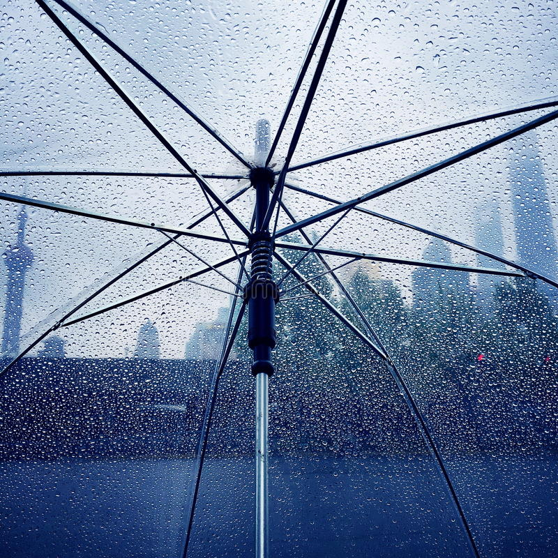 Padać w Shanghai obraz stock