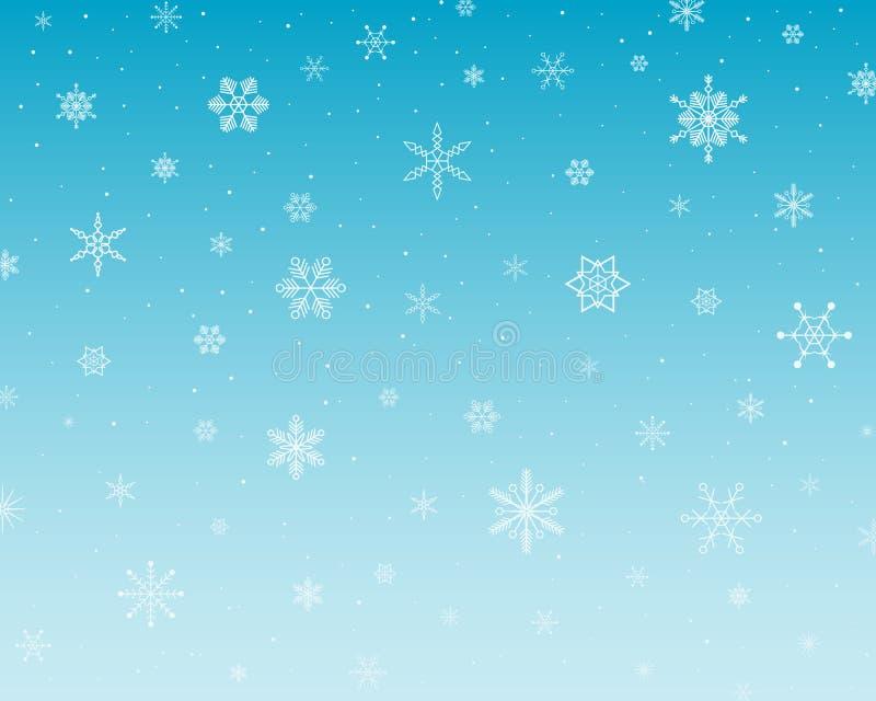pada śnieg royalty ilustracja