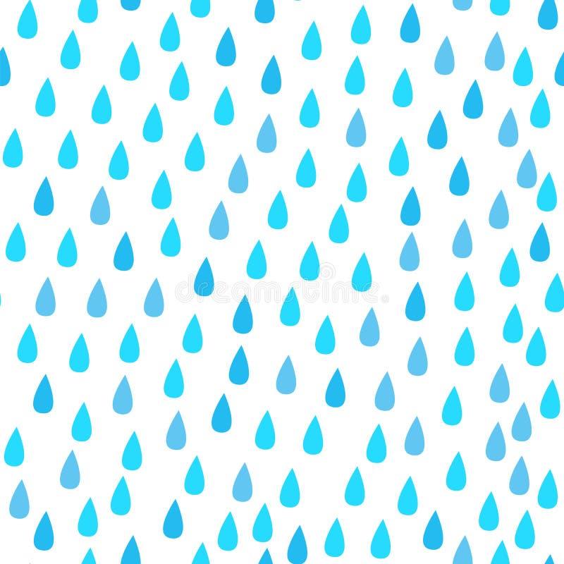 Pada krople wektor bezszwowy wzoru niebieski abstrakcyjne white royalty ilustracja