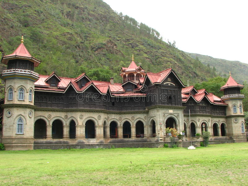 Padam Rampur Palace India. Padam Palace, also known as Rampur Palace, is situated in Rampur, Himachal Pradesh, India royalty free stock images