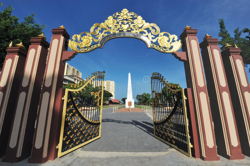 PADANG MERDEKA. Merdeka Square, also called Padang Merdeka, is an open public area in Kota Bharu, Kelantan. Also known as the Independence Field, it was the site royalty free stock photo