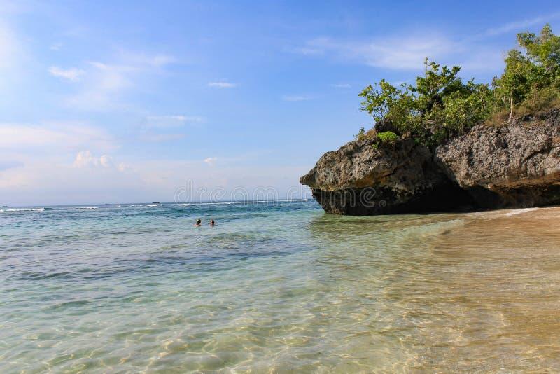 Padang Padang海滩-巴厘岛,印度尼西亚 免版税库存照片