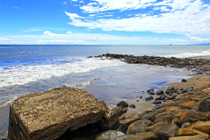 Padang-Strand Indonesien stockfoto
