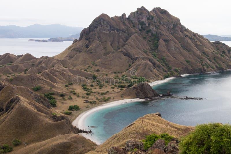 Padar ö i Labuan Bajo, Flores Indonesien arkivbilder