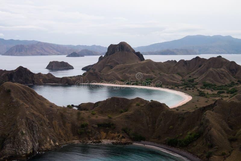 Padar-Insel in Labuan Bajo, Flores Indonesien lizenzfreie stockbilder