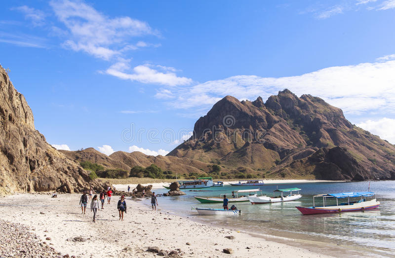 PADAR-INSEL, Nationalpark Komodo, Indonesien stockfoto